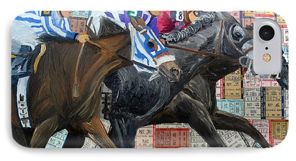 Derby Tickets IIi IPhone Case by Michael Lee