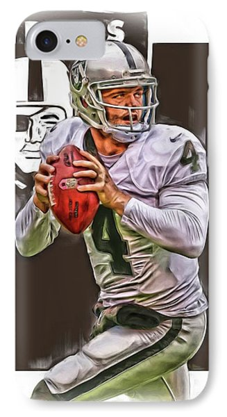 Derek Carr Oakland Raiders Oil Art IPhone Case