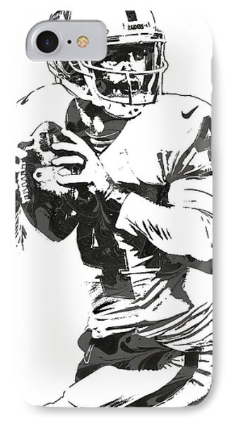 Derek Carr Oakland Raiders Pixel Art IPhone Case