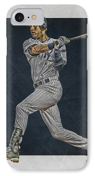 Derek Jeter New York Yankees Art 2 IPhone 7 Case by Joe Hamilton