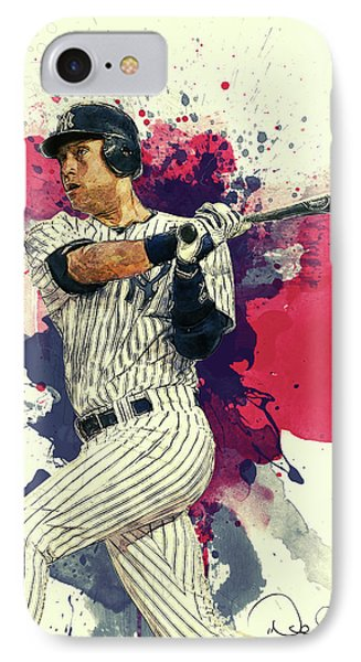 Derek Jeter IPhone 7 Case by Taylan Apukovska