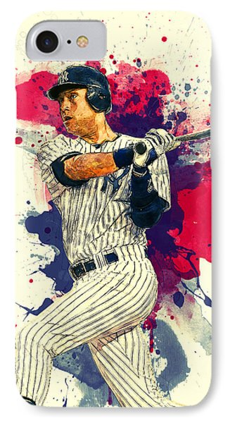Derek Jeter IPhone Case by Taylan Apukovska