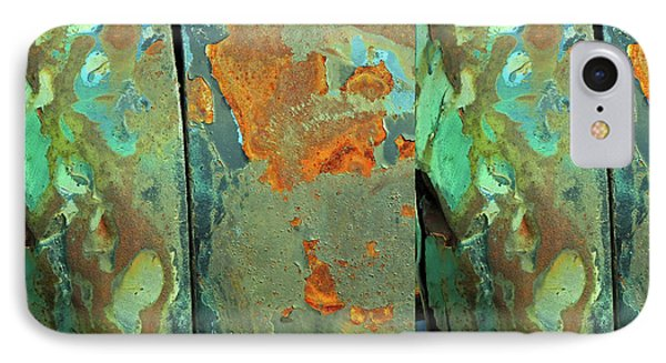IPhone Case featuring the mixed media Dereliction Of Paint 2 by Lynda Lehmann