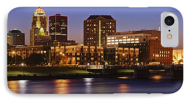 Des Moines Skyline Phone Case by Jeremy Woodhouse
