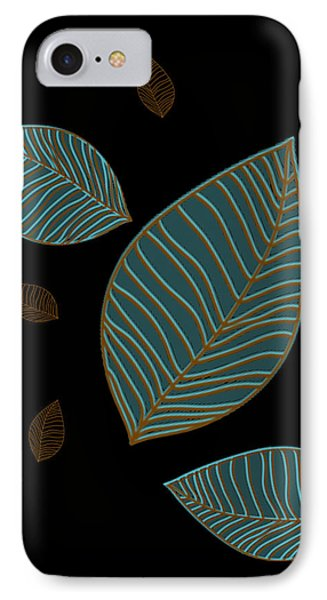 IPhone Case featuring the drawing Descending Leaves by Kandy Hurley