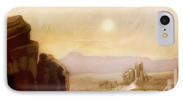 Desert Base - Fantasy IPhone Case by Jean Moore
