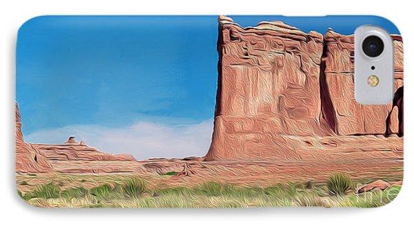 desert Butte IPhone Case by Walter Colvin