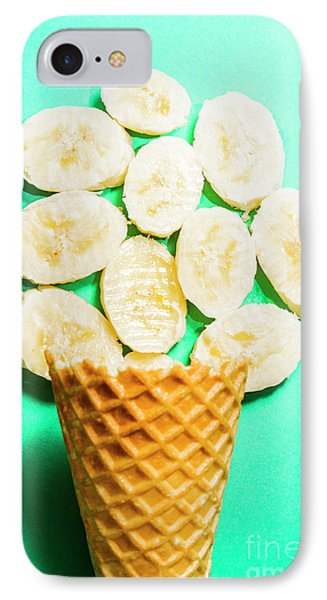 Desert Concept Of Ice-cream Cone And Banana Slices IPhone Case by Jorgo Photography - Wall Art Gallery