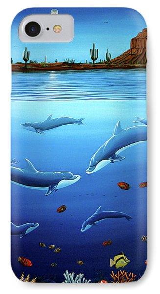 Desert Dolphins Close  Phone Case by Lance Headlee