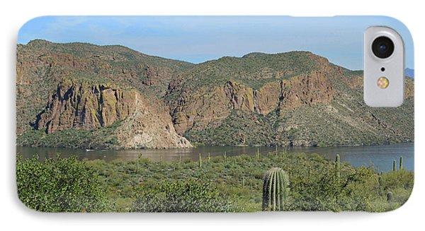 IPhone Case featuring the digital art Desert Flora Over Canyon Lake by Lynda Lehmann