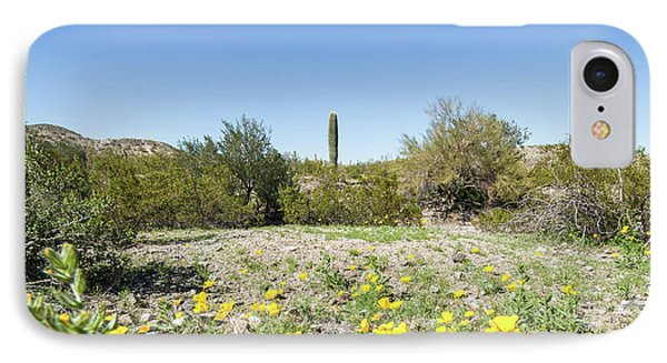 IPhone Case featuring the photograph Desert Flowers And Cactus by Ed Cilley