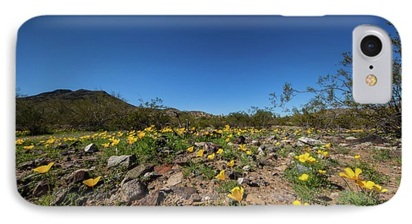 IPhone Case featuring the photograph Desert Flowers In Spring by Ed Cilley
