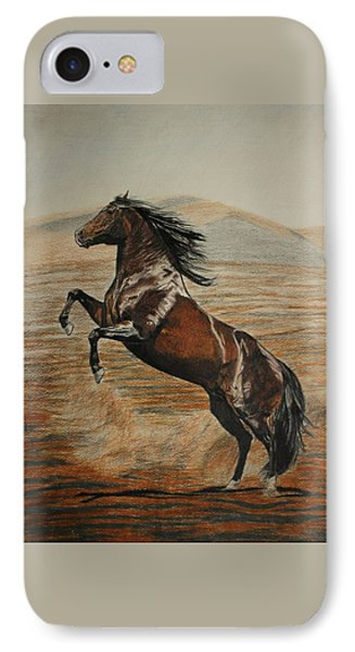 IPhone Case featuring the drawing Desert Horse by Melita Safran