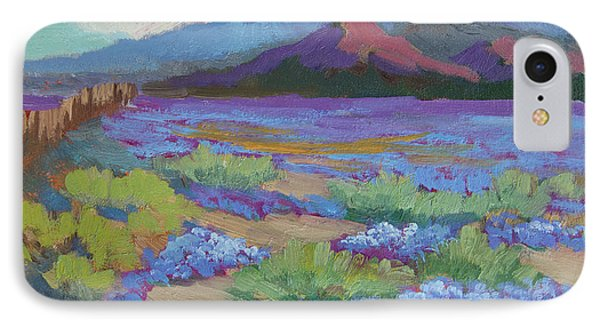 IPhone Case featuring the painting Desert In Bloom by Diane McClary