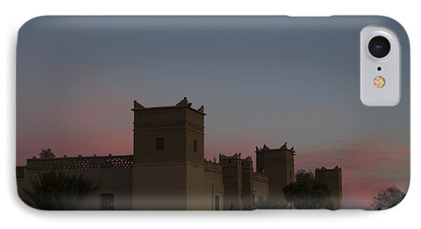 IPhone Case featuring the tapestry - textile Desert Kasbah Morocco 2 by Kathy Adams Clark