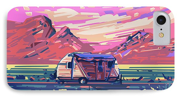 Desert Landscape IPhone Case by Bekim Art