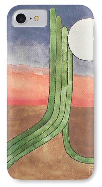 IPhone Case featuring the painting Desert Moon by LeAnne Sowa