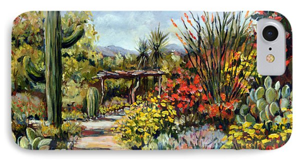 Desert Museum Garden Tucson IPhone Case by Alexandra Maria Ethlyn Cheshire