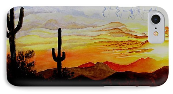Desert Mustangs IPhone Case by Jimmy Smith