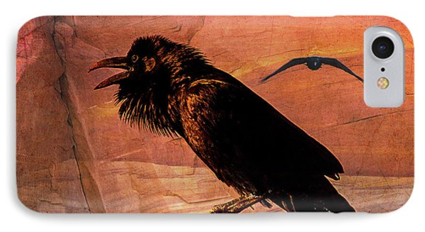 IPhone Case featuring the photograph Desert Raven by Mary Hone