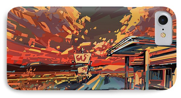 Desert Road Landscape 2 IPhone Case by Bekim Art