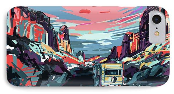 Desert Road Landscape IPhone Case by Bekim Art