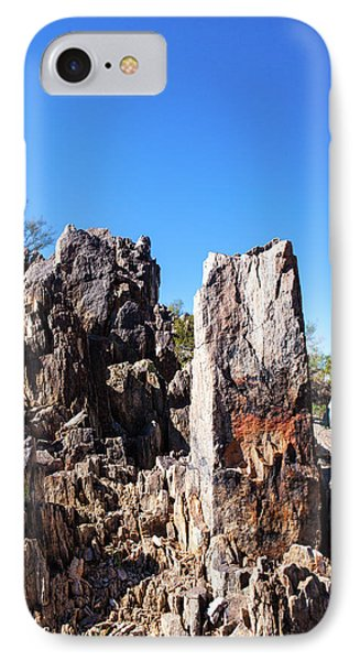 IPhone Case featuring the photograph Desert Rocks by Ed Cilley