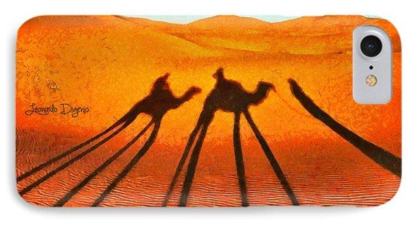 Desert Shadow - Da IPhone Case by Leonardo Digenio