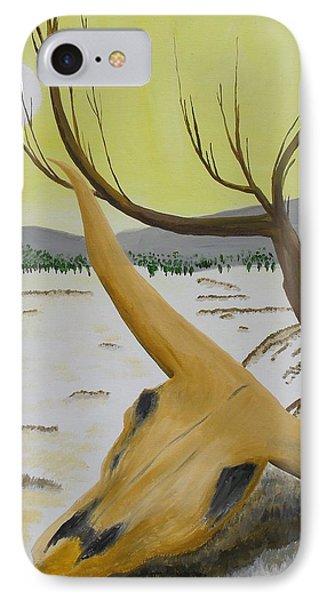 Desert Skull Phone Case by M Valeriano