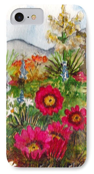 IPhone Case featuring the painting Desert Spring by Eric Samuelson
