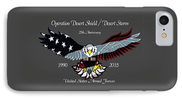 Desert Storm 25th Anniversary Phone Case by Bill Richards