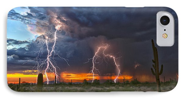 IPhone Case featuring the photograph Desert Strike by James Menzies