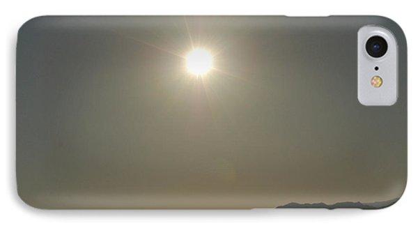 IPhone Case featuring the digital art Desert Sun by Walter Chamberlain
