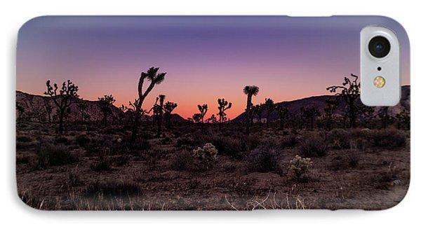 Desert Sunrise Joshua Tree National Park IPhone Case by Timothy Kleszczewski