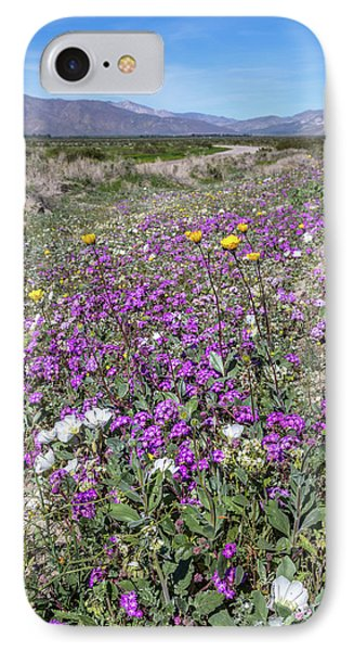 Desert Super Bloom IPhone Case by Peter Tellone