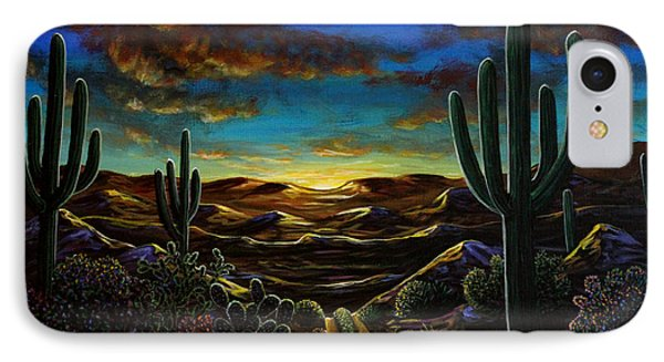 IPhone Case featuring the painting Desert Trail by Lance Headlee