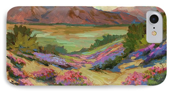 Desert Verbena At Borrego Springs IPhone Case by Diane McClary