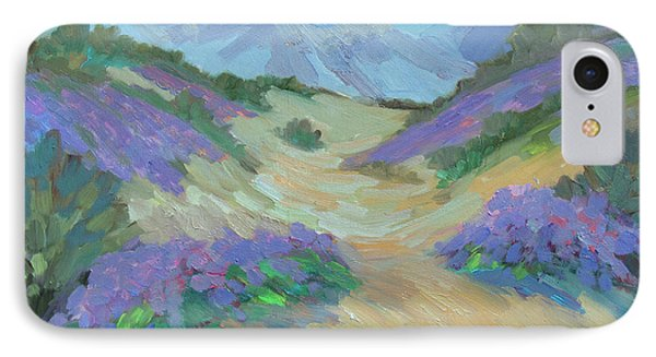 IPhone Case featuring the painting Desert Verbena by Diane McClary