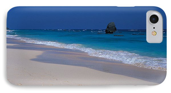 Deserted Beach In Bermuda IPhone Case by Carl Purcell