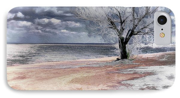 IPhone Case featuring the photograph Deserted Beach by Pennie  McCracken