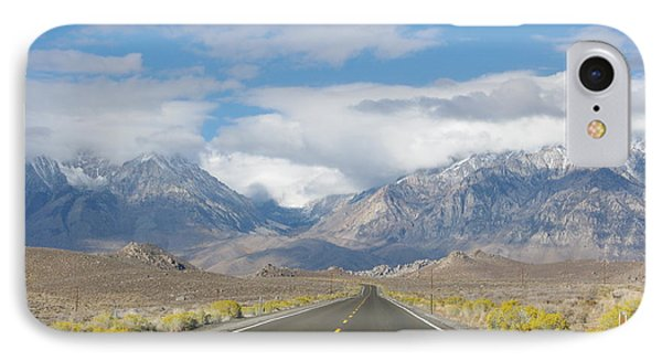Deserted Road To Mt. Whitney IPhone Case by Jeff Lowe
