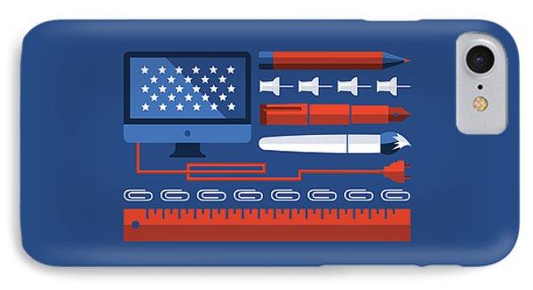 Design America IPhone Case by Katie Swick