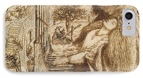 Design For Moxon's Tennyson - Saint Cecilia IPhone Case by Dante Gabriel Rossetti
