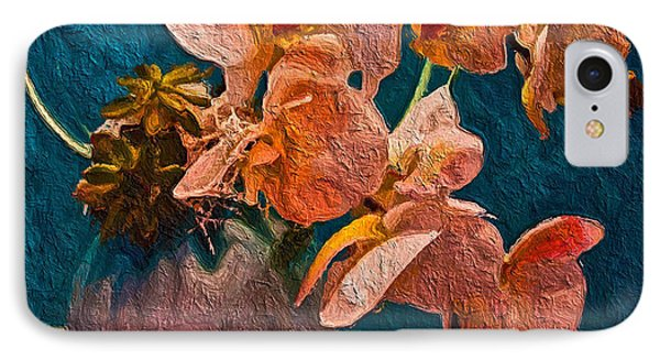 Designer Floral Arrangement IPhone Case by Joan Reese
