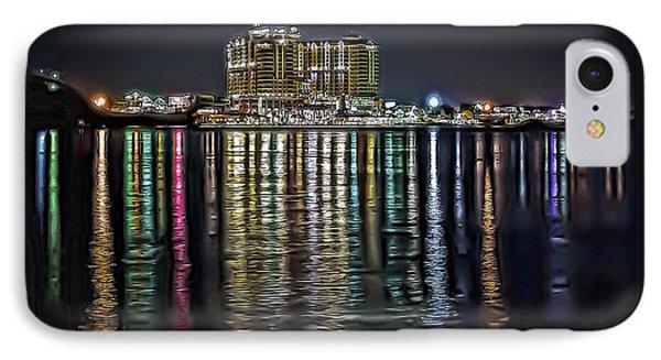Destin Night Across The Estuary IPhone Case by Walt Foegelle