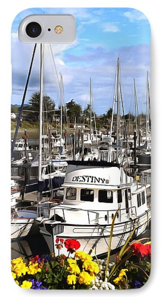 Destiny Sidney Harbor British Columbia Canada Painting IPhone Case by Barbara Snyder