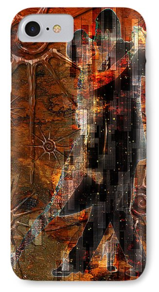 Destiny Tangos Con Chance En El Salon De Eternidad Phone Case by Kenneth Armand Johnson