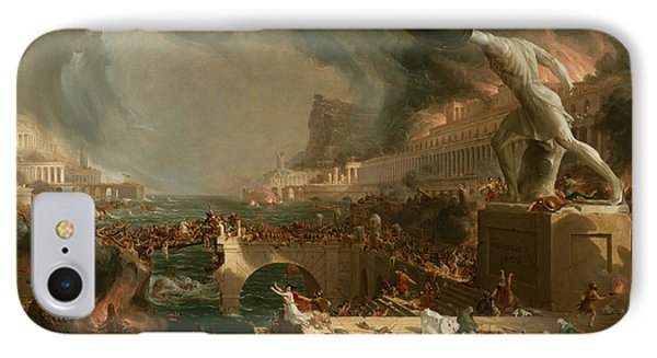 Destruction  IPhone Case by Thomas Cole