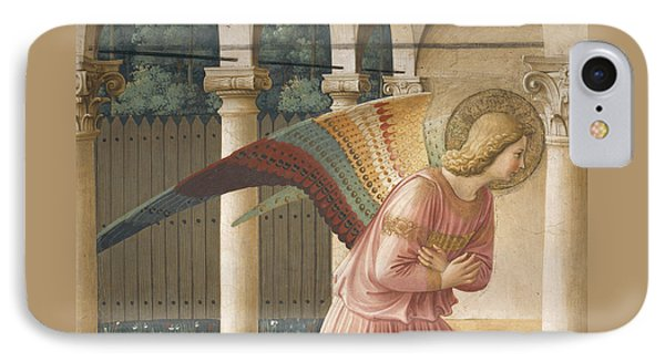 Detail From The Annunciation Showing Archangel Gabriel IPhone Case by Fra Angelico