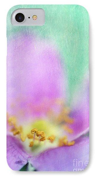 Detail Of A Wild Rose IPhone Case by Priska Wettstein